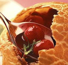Soupe de cerises noires au Beaujolais