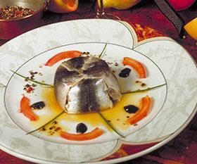 Chartreuse de sardines marinées à l'huile d'olive et au citron