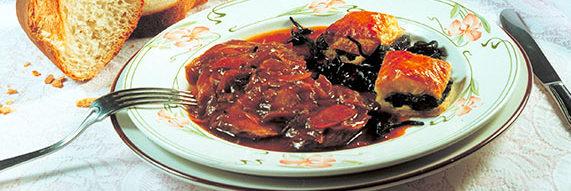 Filet de canard sauce confit d'oignons