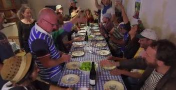 La revole, repas de fin de vendanges Beaujolais Nouveaux