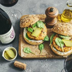 Burger veggie aux lentilles du Puy et Beaujolais Nouveaux